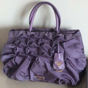 Prada tessuto nylon pleated handbag
